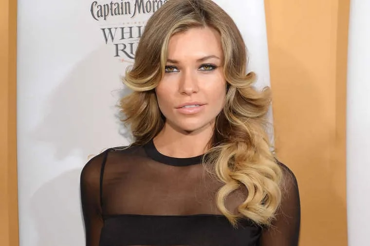 Model Samantha Hoopes attends the 2014 Sports Illustrated Swimsuit 50th Anniversary Issue kick off event  in New York.