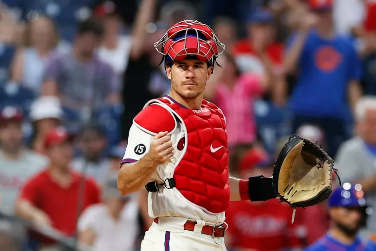 Phillies catcher J.T. Realmuto said his sore right shoulder has been feeling better.