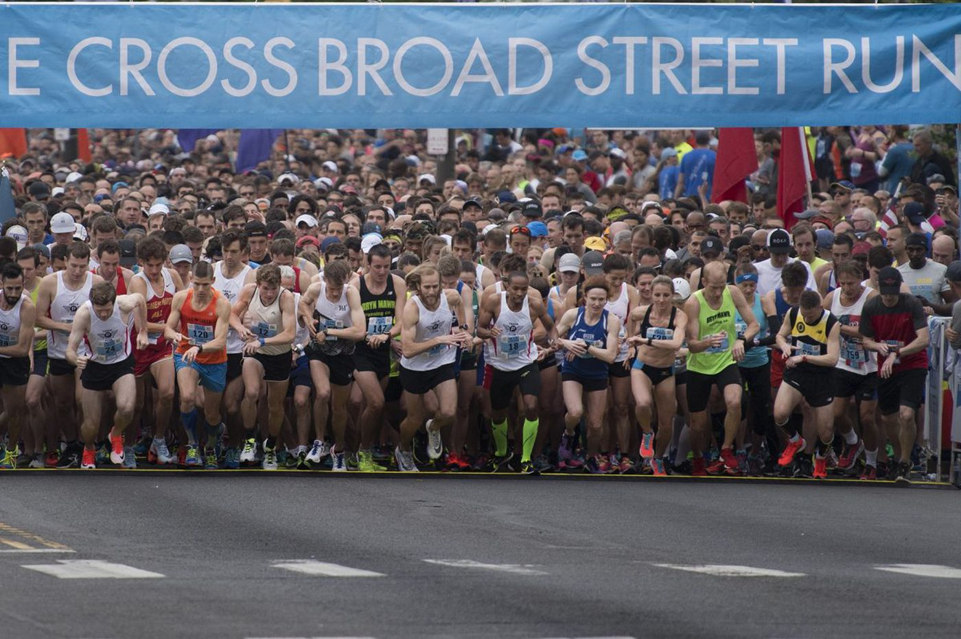 'Congratulations!! You did it.' Scenes from the Broad Street Run