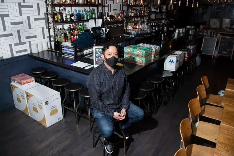 Restaurant owner, Peter Hwang is photographed at SouthGate restaurant in Philadelphia, Pa. Monday, November 16, 2020.  Officials announced new COVID-19 restrictions Monday, after reporting more than 1,000 cases in a single day.
