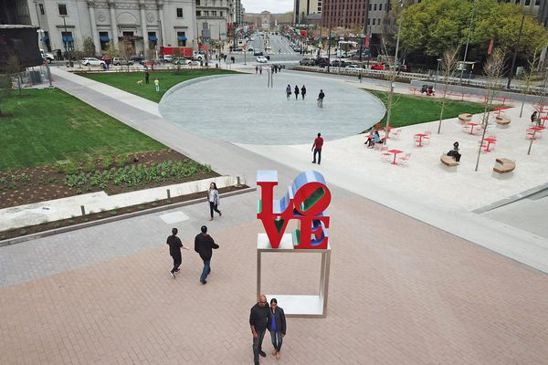 LOVE Park was supposed to be the People's Park. How did it end up as a granite Sahara? | Inga Saffron