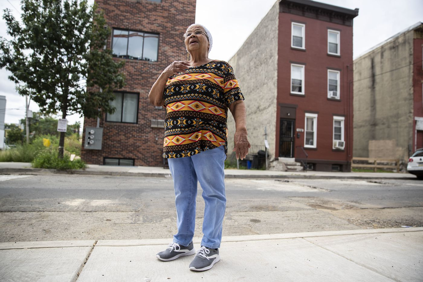 Petronila Cruz used to have a vast garden on six vacant lots surrounding her home in West Kensington. In 2019 the land was sold, and now a three-story apartment building stands there.
