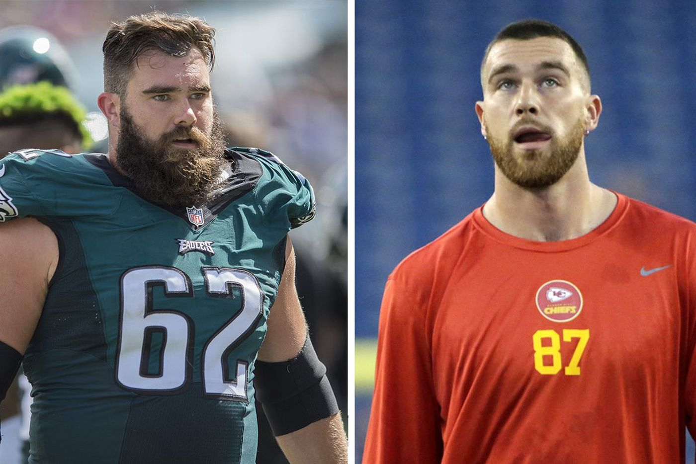 Travis Kelce's brother Jason guided him through a pivotal time; now they face off as Eagles visit Chiefs