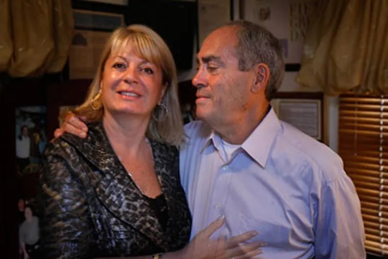 Louise and Michael Esposito, owners of Chef Vola's in Atlantic City. (David Maialetti / Staff Photographer)