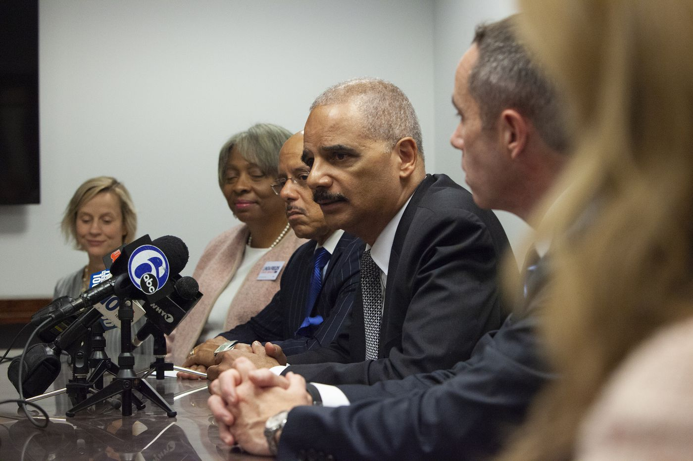 Former AG Eric Holder visits Philadelphia to stump for Dems, talk redistricting