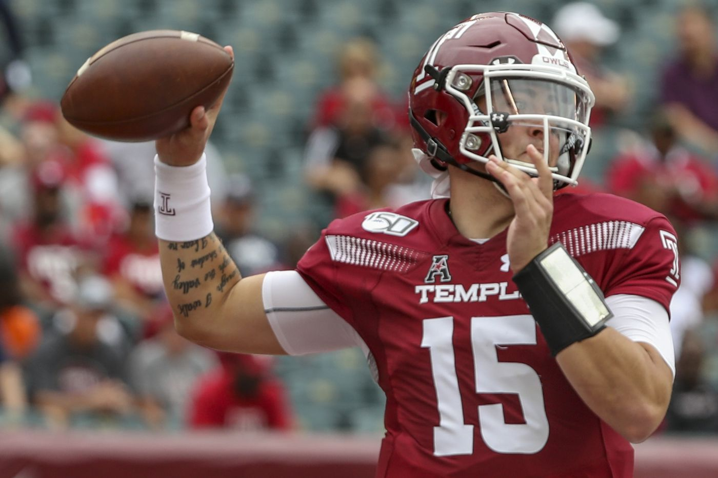 Quarterback Anthony Russo says he's leaving Temple to enter the transfer portal