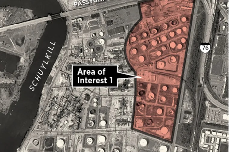 Area of Interest 1 for the Philadelphia Energy Solutions refinery