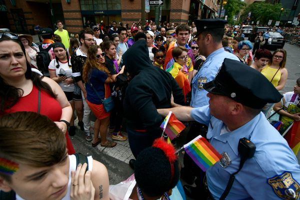 Felony charges dropped against transgender woman accused of trying to burn flag at Philly Pride