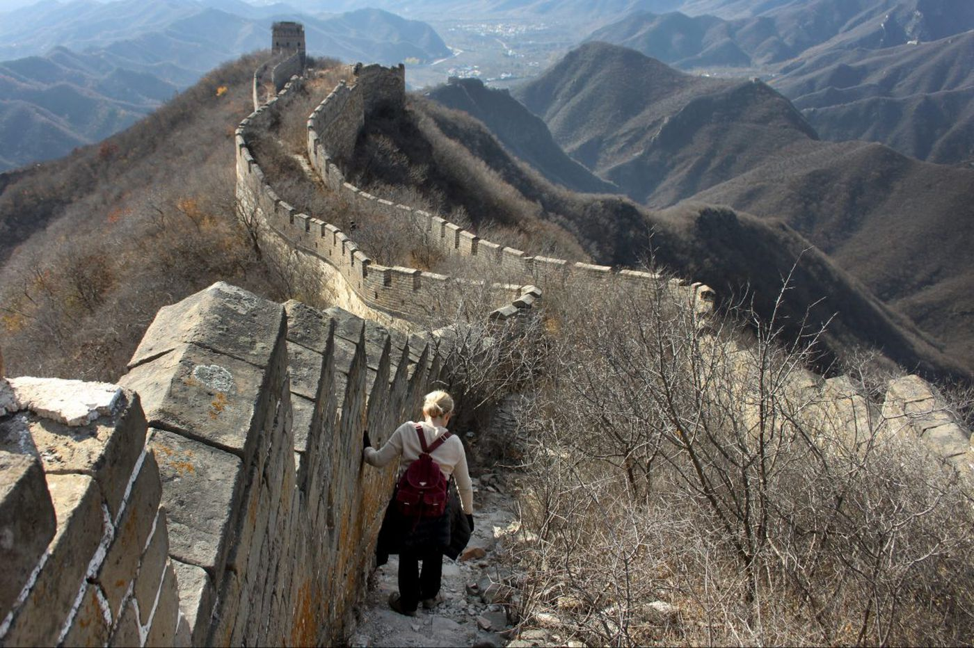 The authentic Great Wall of China, without the crush