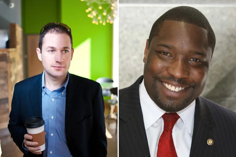 Developer Ori Feibush, left. Philadelphia City Councilman Kenyatta Johnson, right. (FILE)