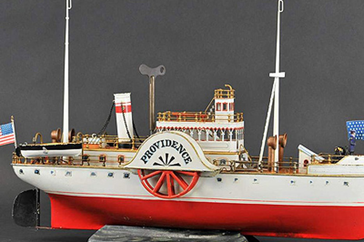 Toy boats on the block at Bertoia Auctions