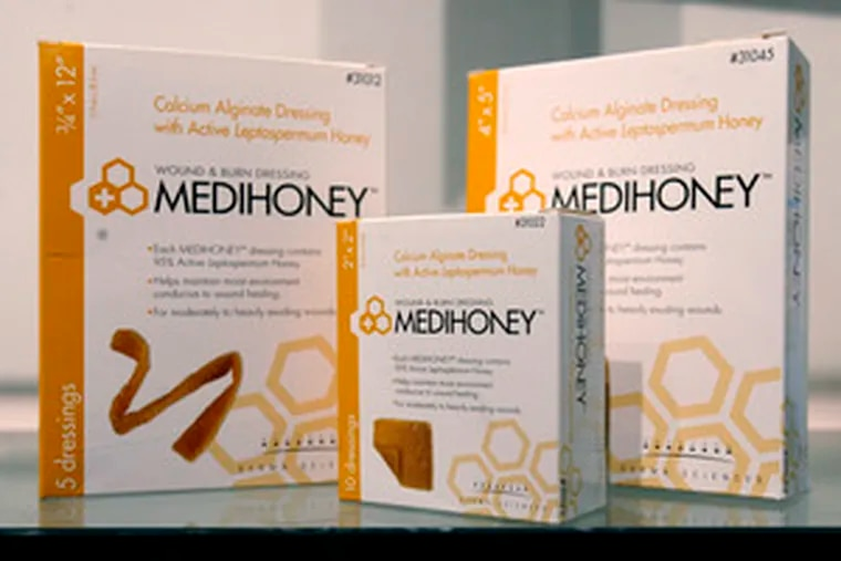 The Medihoney dressings are made with potent manuka honey, which experts say kills germs and speeds healing.