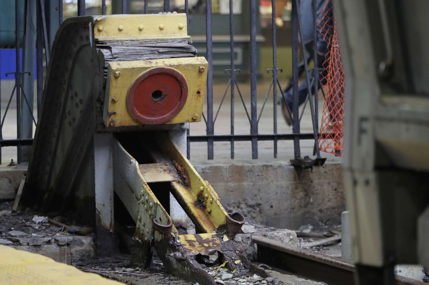 Century-old bumper no match for train