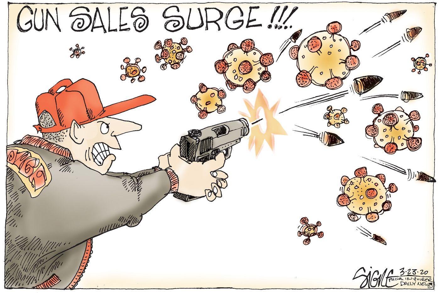 Political Cartoon: Gun owners target coronavirus