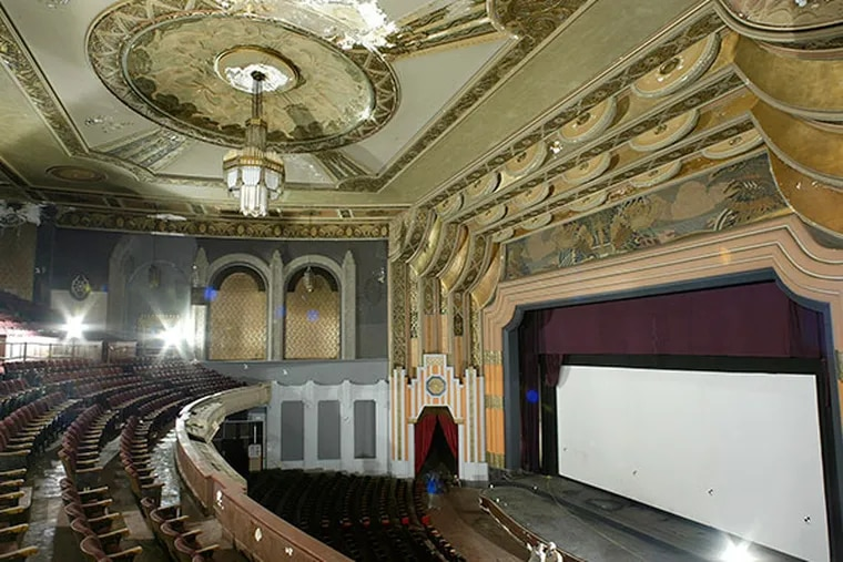 """An analysis by an outside consultant hired by the Philadelphia Historical Commission to assess the viability of the historic and deteriorating Boyd Theater on Chestnut Street concludes that redevelopment """"is not economically feasible without significant public subsidies."""" (AP Photo/George Widman)"""