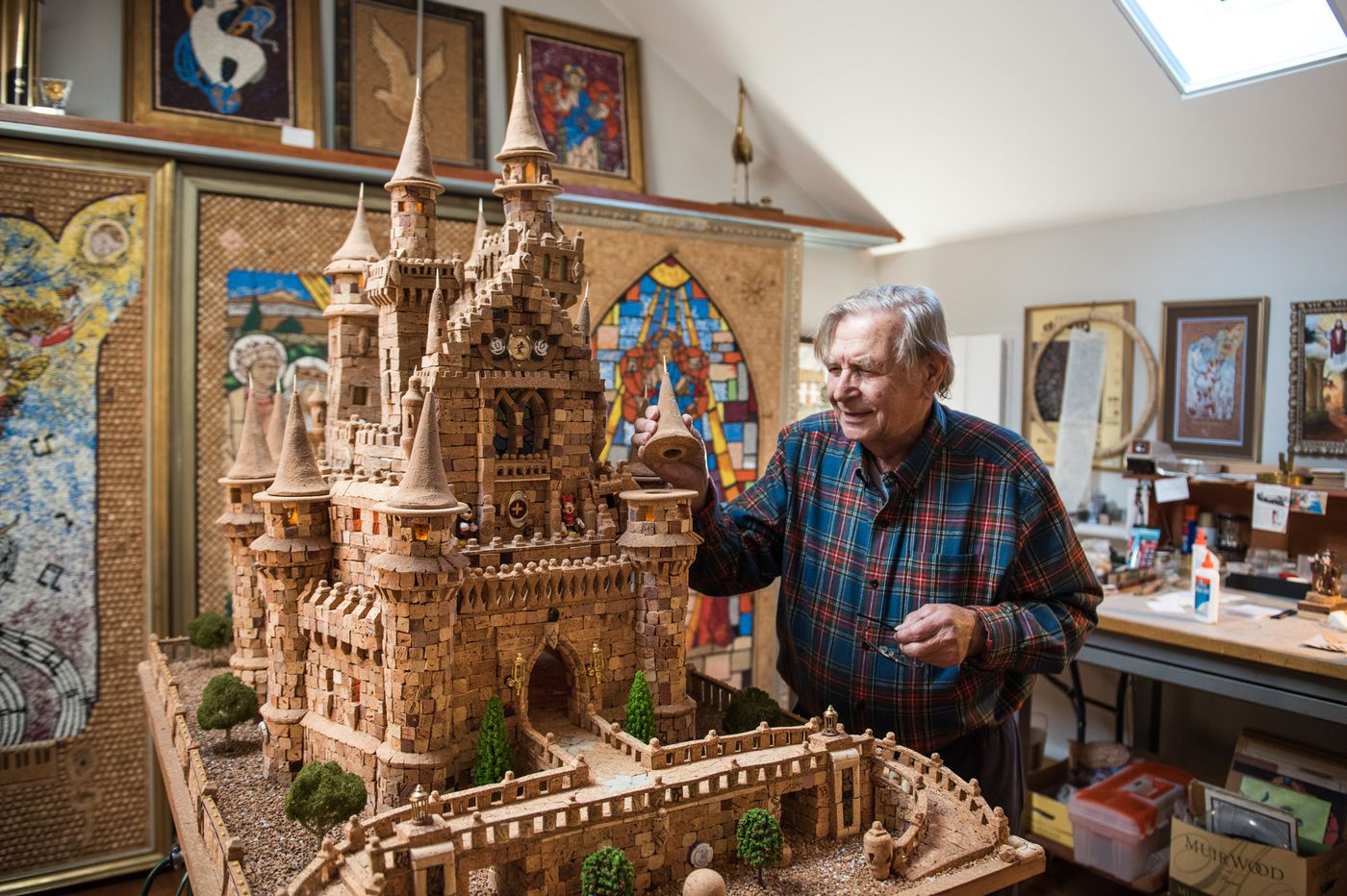 A Huntingdon Valley retiree used 7,300 corks to recreate Disney's Cinderella Castle