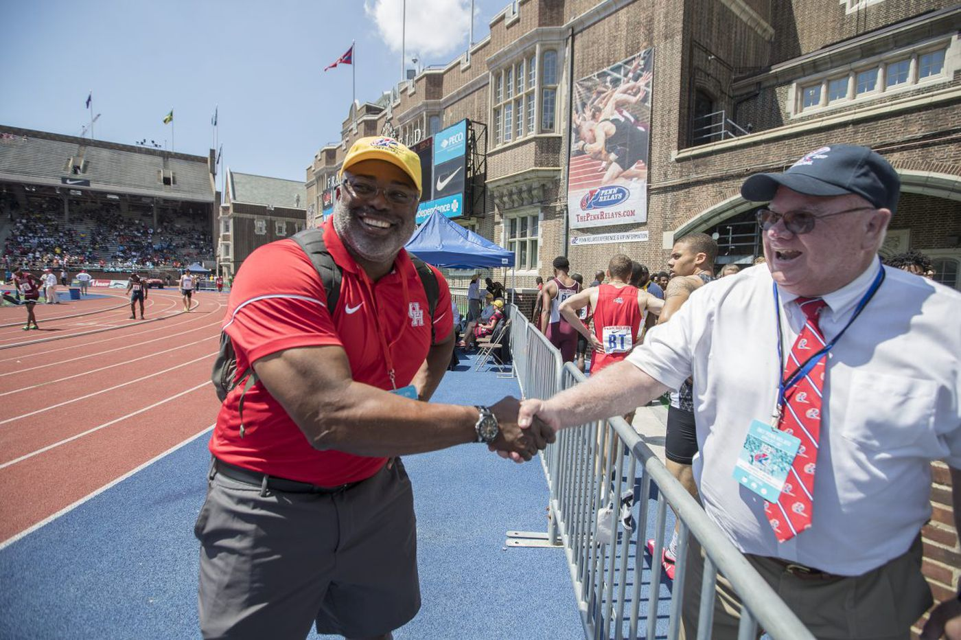 Leroy Burrell is back at Penn Relays with his fleet Houston Cougars
