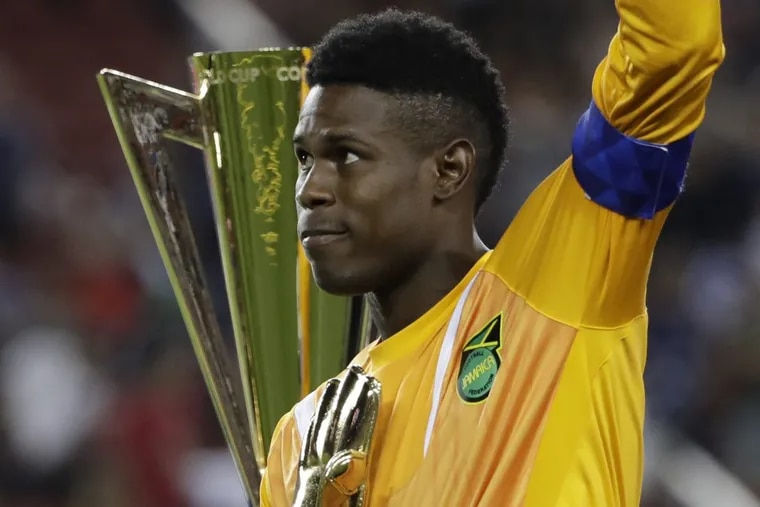 Jamaica goalkeeper Andre Blake won the Golden Glove trophy as the top goalkeeper in the CONCACAF Gold Cup.