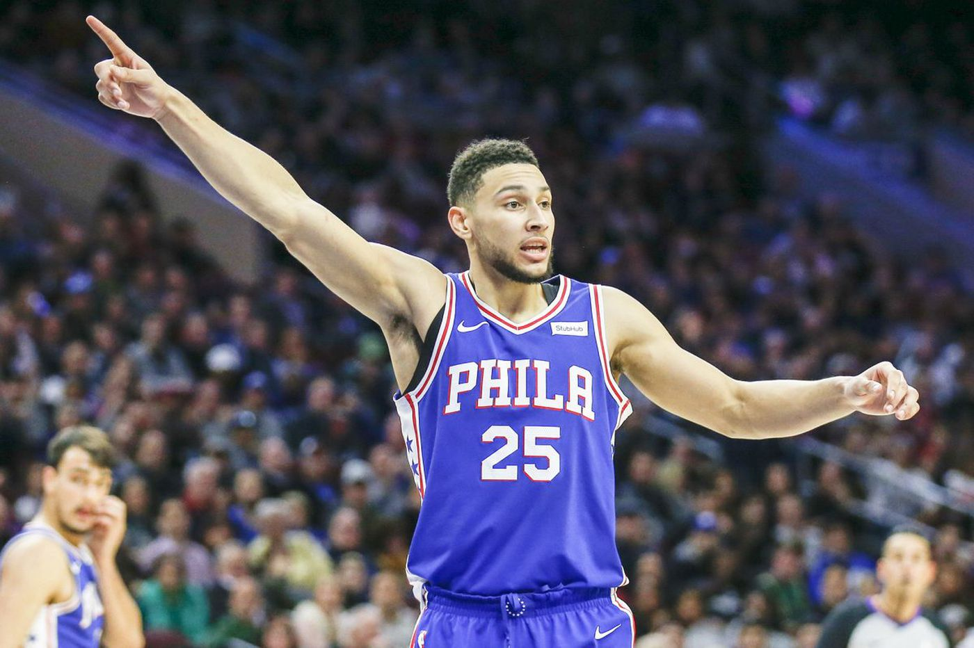 Sixers rookie Ben Simmons sidelined with elbow swelling