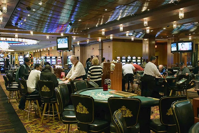 Blackjack tables remain in operation about 3:15 a.m. on Tuesday, September 16, 2014, at the now-closed Trump Plaza Hotel Casino in Atlantic City, N.J. (Gregg Kohl / For the Inquirer)
