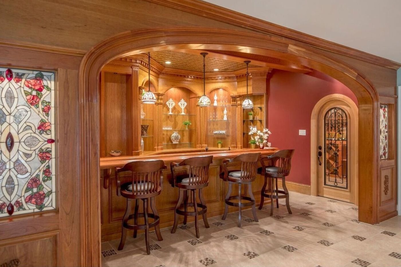 Three suburban Philadelphia homes with impressive wet bars