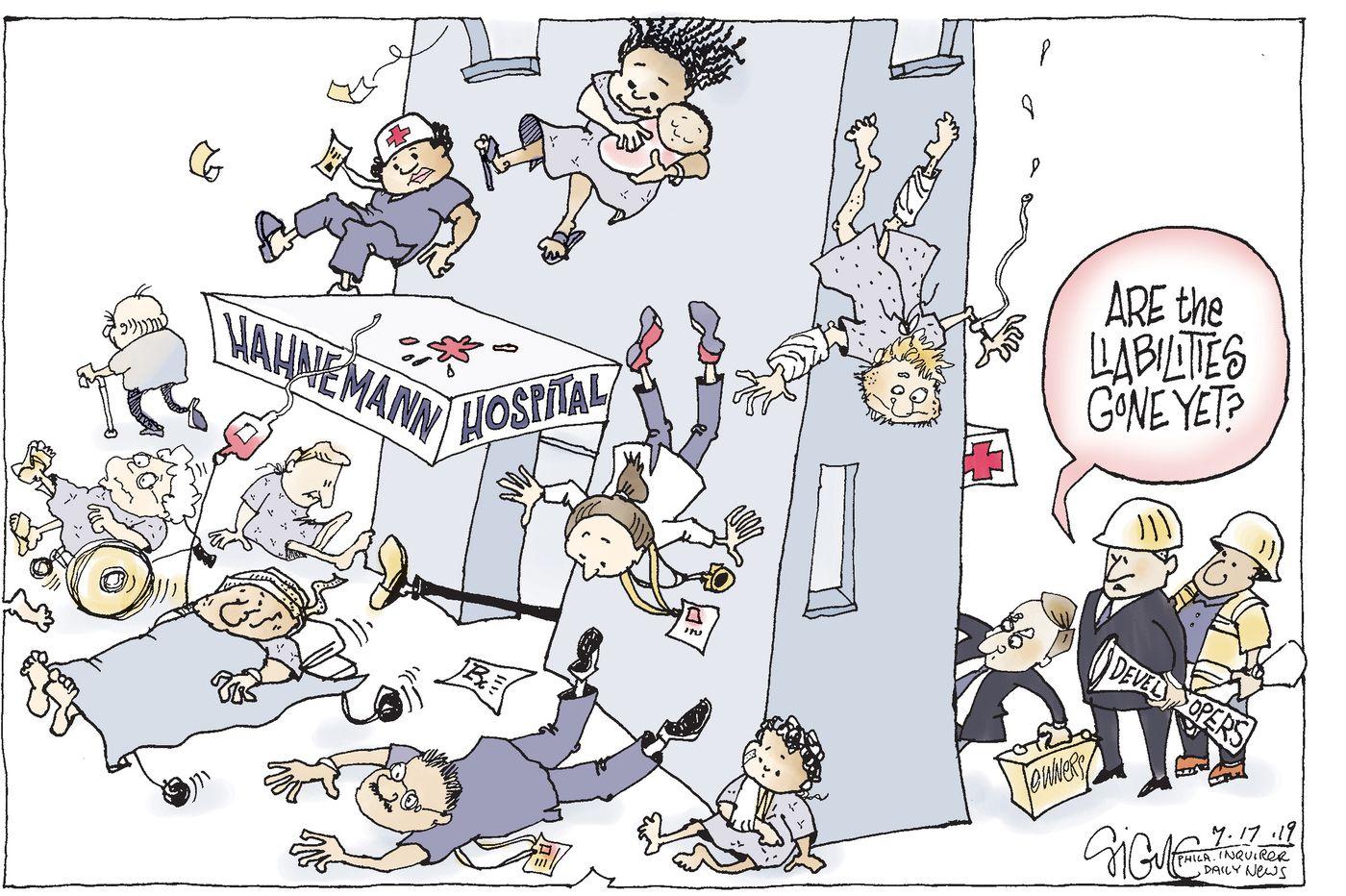 Political Cartoon: Philadelphia's Hahnemann Hospital is closing