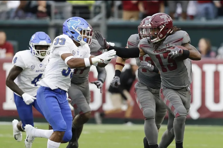 Temple wide receiver Isaiah Wright.