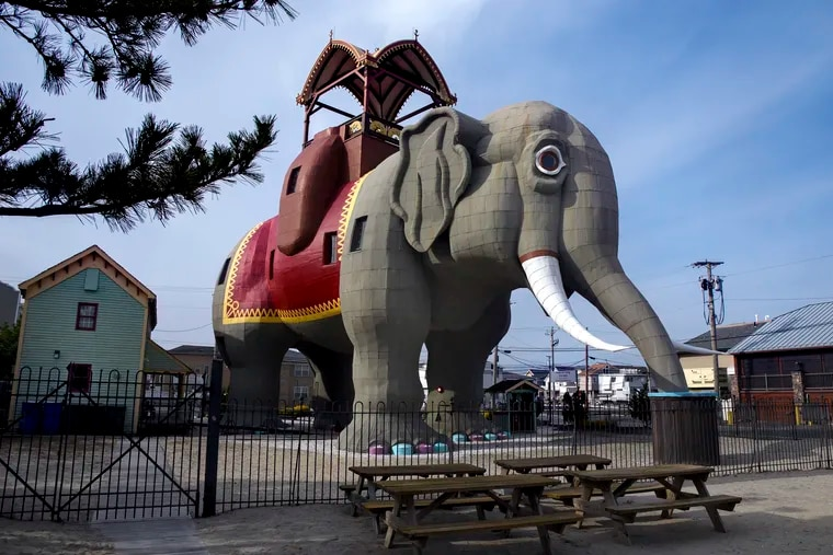 Lucy the Elephant in March 2020. There were once three colossal elephants on the East Coast; Lucy is the last one standing.