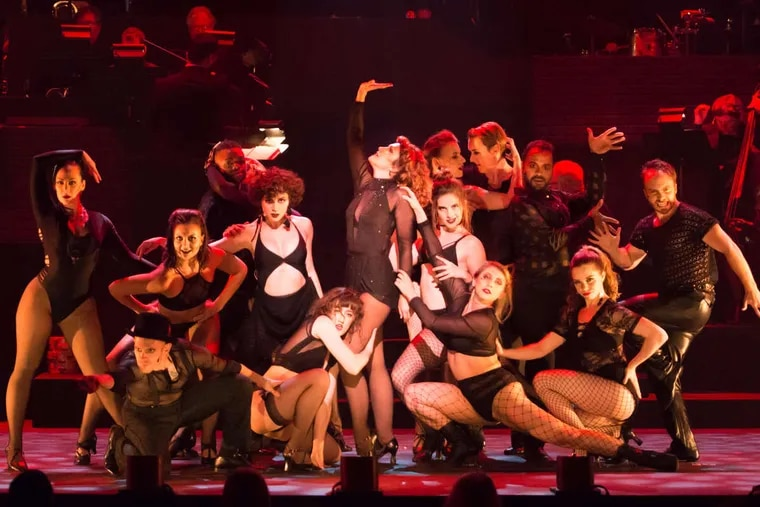 """The cast of """"Chicago,"""" through July 22 at the Broadway Theatre of Pitman, N.J."""