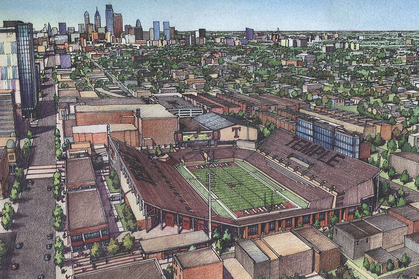 Temple takes next step to an on-campus football stadium