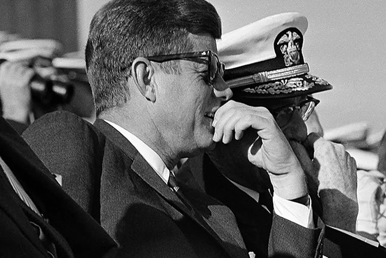 John F. Kennedy was a regular visitor to Philadelphia for sporting events, including the Army-Navy football game. (AP file photo)