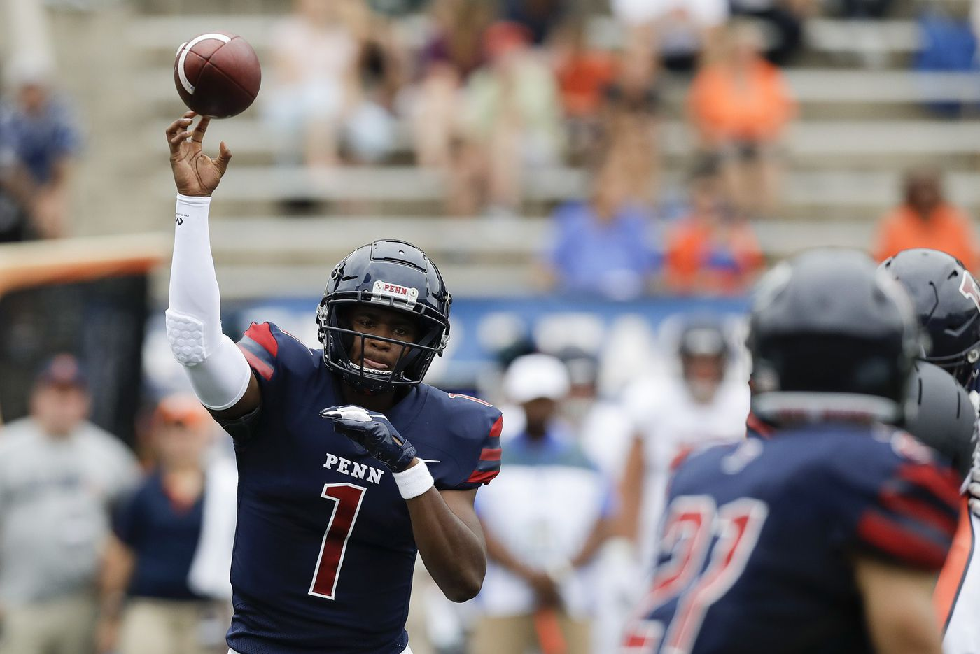 Penn coach Ray Priore likes what he saw and didn't see in QB Ryan Glover's first start