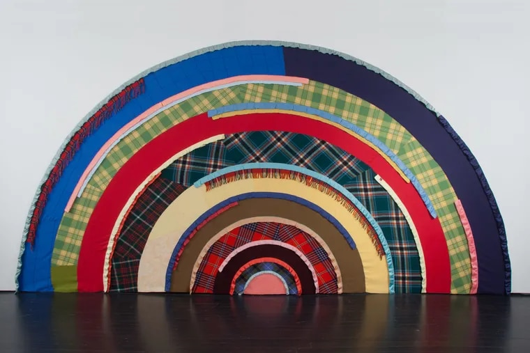 """Marie Watts """"Skywalker/Skyscraper (Allegory),"""" (2012), a fabric work recently acquired by PAFA."""