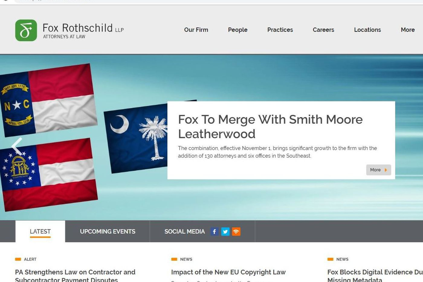 Fox Rothschild law expands into the Southeast, merging with Charlotte-based firm