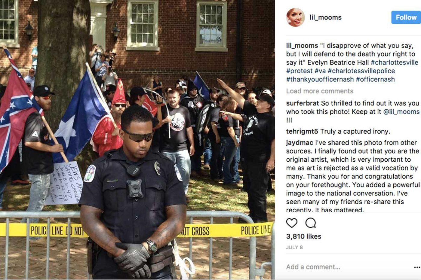Viral photo of Charlottesville hate was taken by Philly-area woman who moved there for love