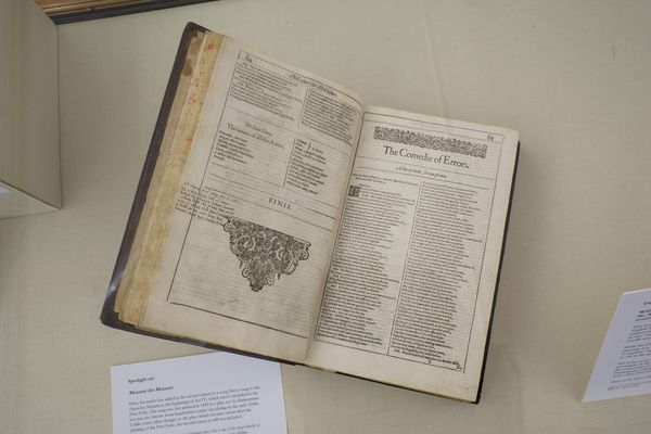 A Rare Shakespeare First Folio Annotated By John Milton Hid