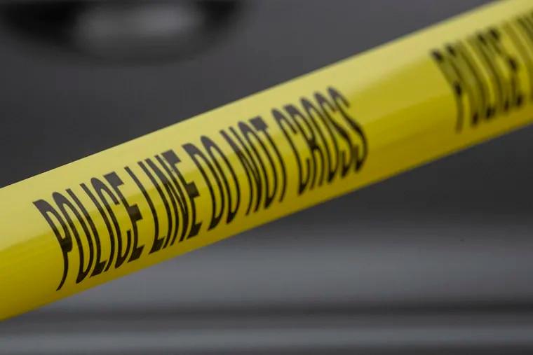 File art of police crime scene tape.