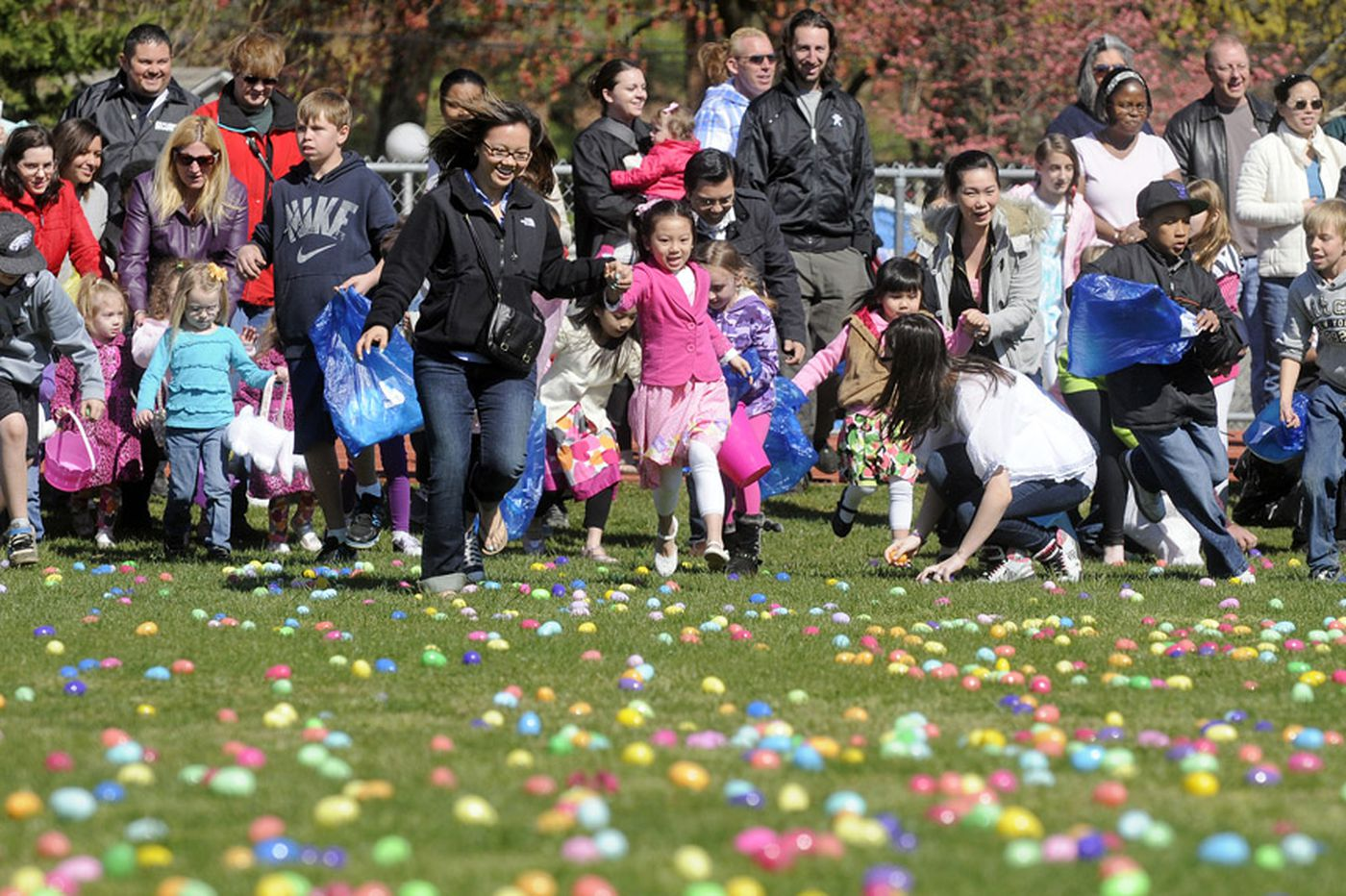 A helicopter will drop 6,000 Easter eggs on Northeast Philly this Saturday