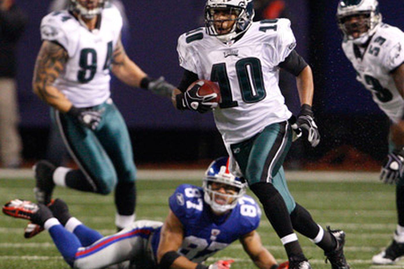 Jackson and Eagles run down Giants
