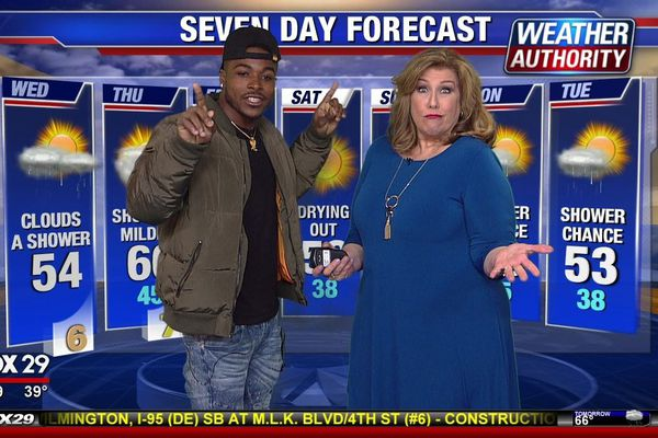 And now, Eagles running back Corey Clement with the weather