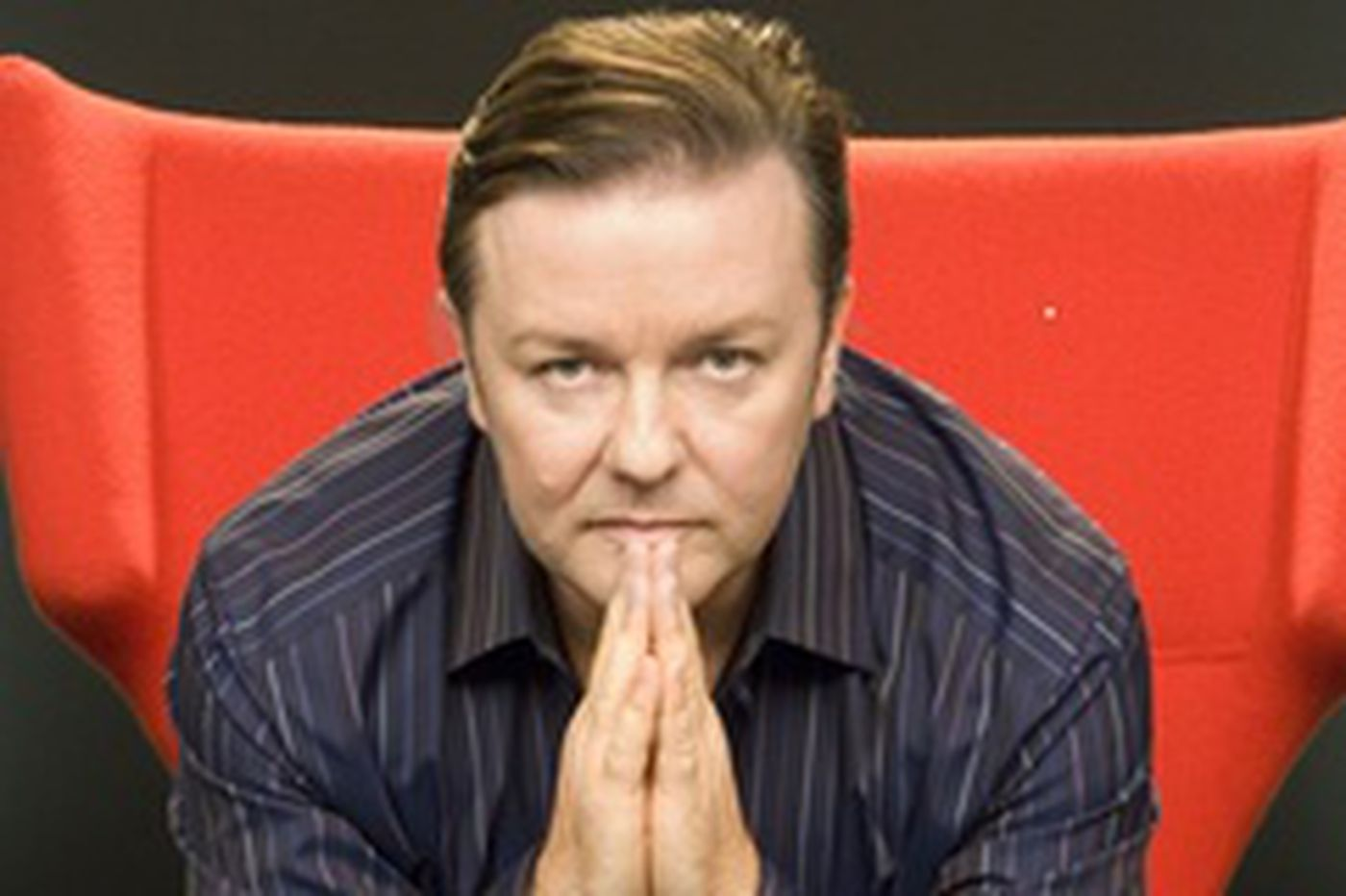 Gervais speaks as 'Extras' exits