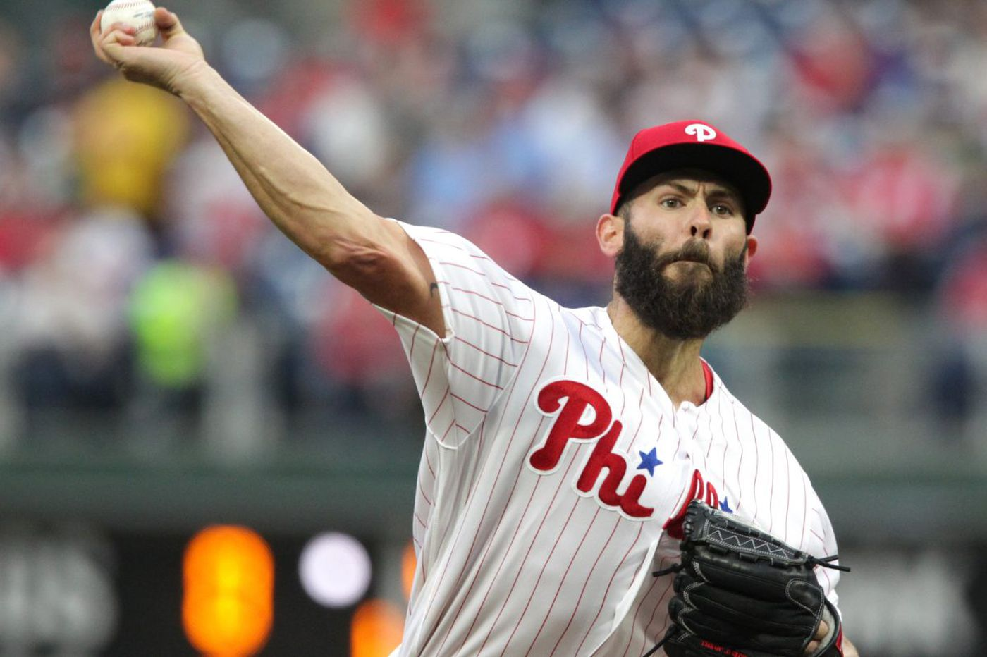 Jake Arrieta delivers in a different way as Phillies down Diamondbacks