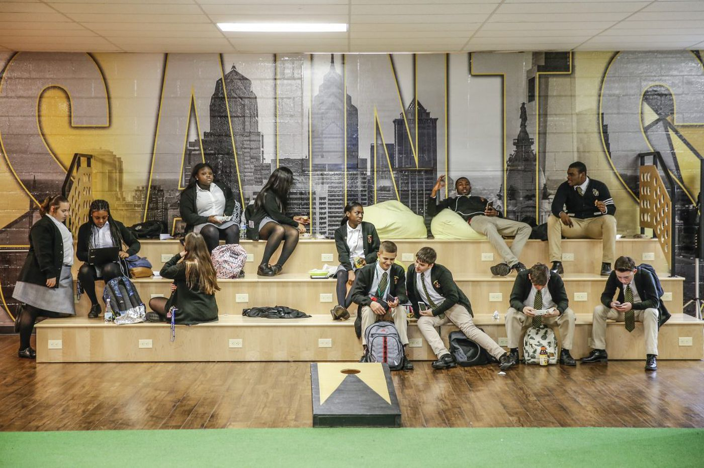 Reinventing S. Philly's last Catholic high school with Ikea furniture, murals and a rain garden
