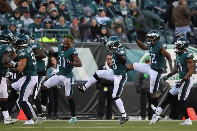 """Philadelphia Eagles players had plenty of reason to celebrate during Sunday's 31-3 win over the Chicago Bears at Lincoln Financial Field, though the """"Electric Slide"""" dance might have been a bit gratuitous."""