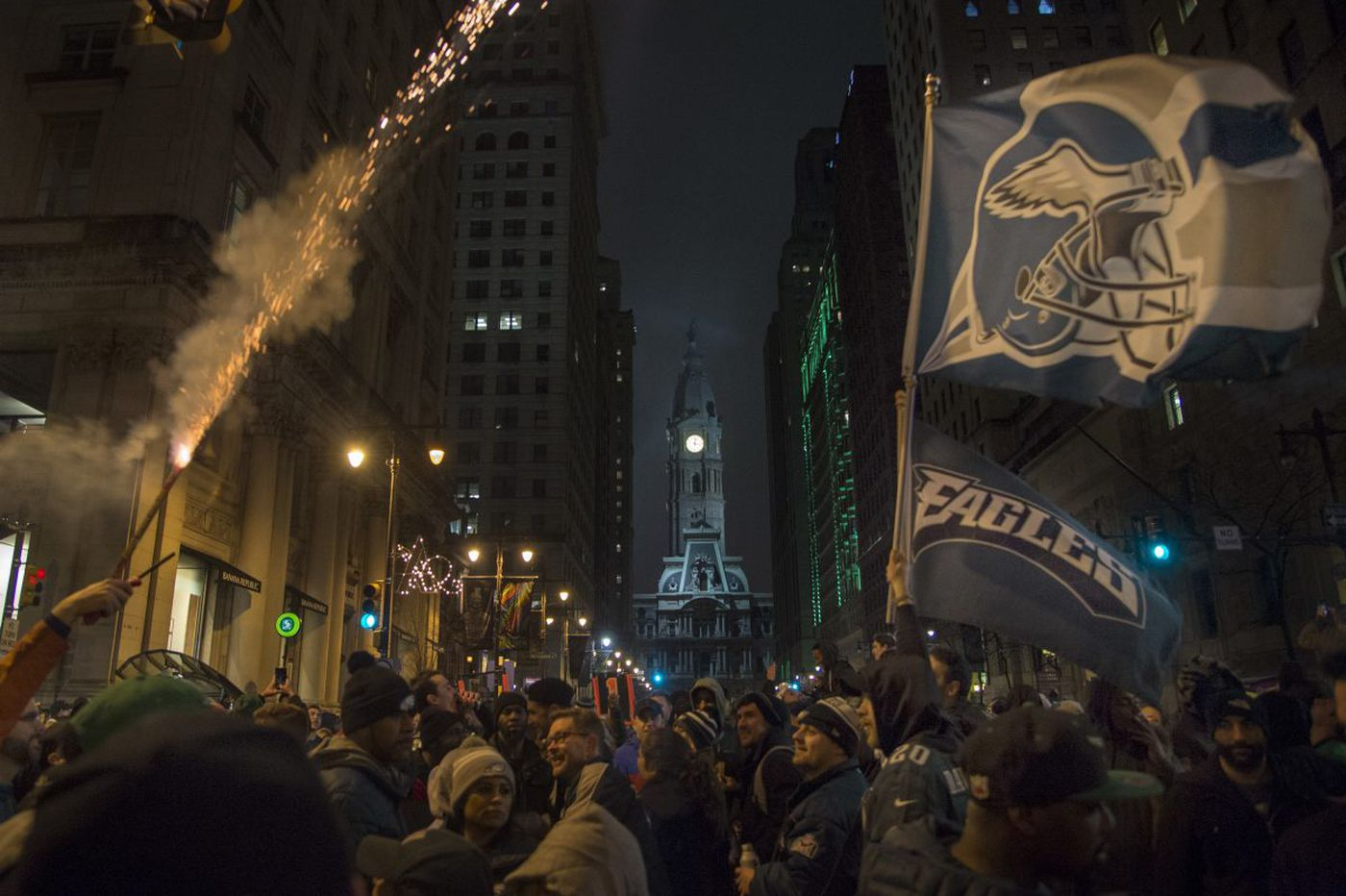 Super Bowl celebration: Eagles fans take to streets in Philadelphia after win over Patriots