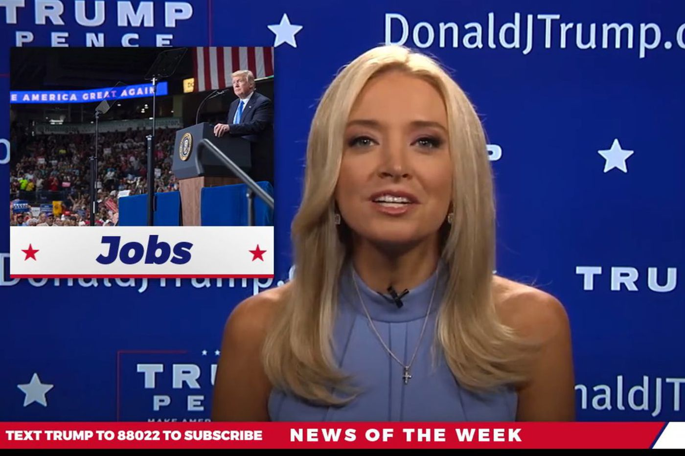 Out at CNN, Kayleigh McEnany suddenly appears on Trump's Facebook page