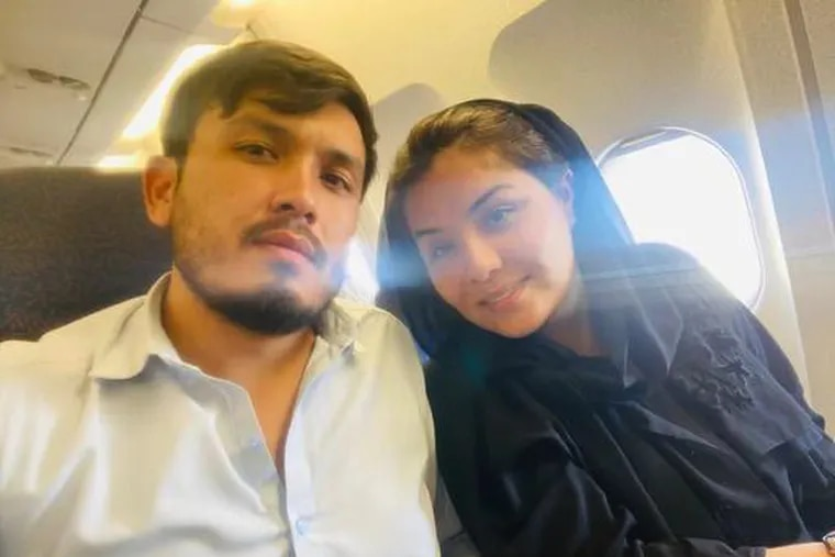 Green card holder Najlla Habibyar and her husband Musa Zekria overcame huge obstacles to make it out of Afghanistan to Abu Dhabi on a flight organized by Digital Dunkirk.