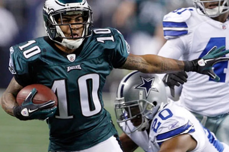 DeSean Jackson and the Eagles will battle the Giants Sunday. (Ron Cortes/Staff Photographer)