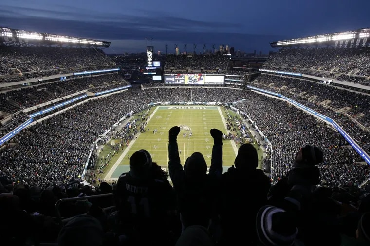 Lincoln Financial Field during the NFC championship game in January 2018.