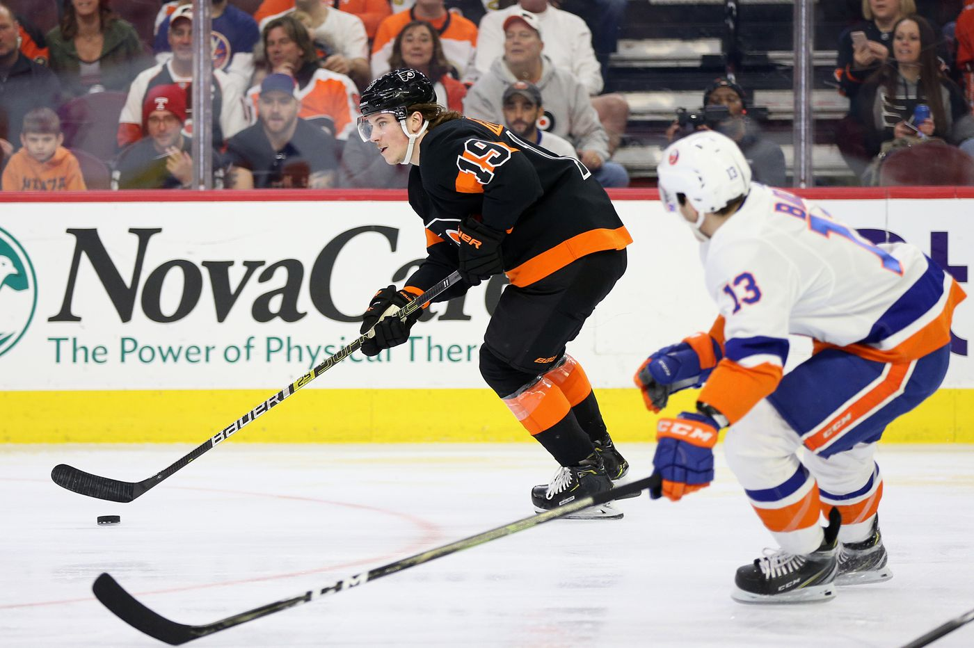 Nolan Patrick joins Flyers at practice, but Alain Vigneault downplays his appearance